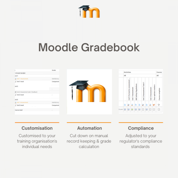 Moodle Gradebook for RTOs and Training Organisations